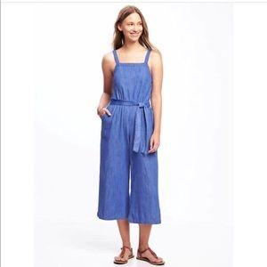 Old Navy Blue Overalls Jumpsuit sz L